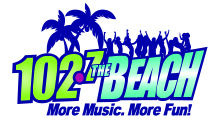 102.7 The Beach logo
